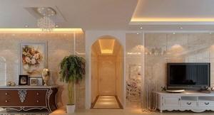古典欧式两室两厅家庭客厅装修效果图