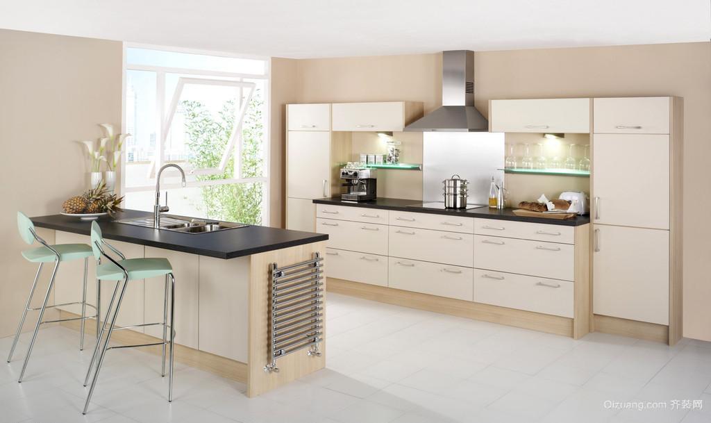 开放式整体厨房装修效果图