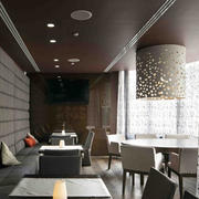 咖啡厅吊顶效果图