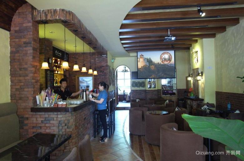 美式风格都市咖啡店装修效果图