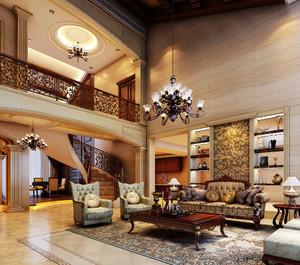 欧式风格复式楼旋转楼梯装修效果图