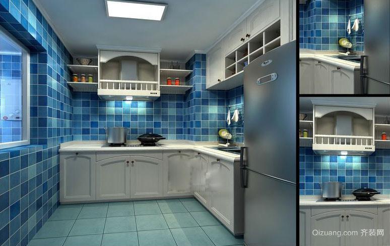 30平米全新地中海风格厨房装修效果图