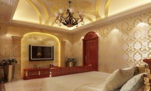130㎡欧式巴洛克风格卧室壁纸装修设计图