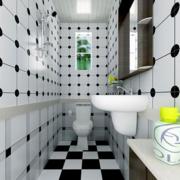黑白相间卫生间效果图
