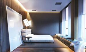 两居室后现代卧室装修效果图