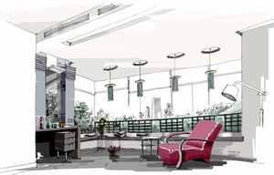 大型展厅设计手绘效果图