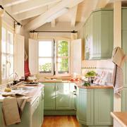 清新风格厨房效果图片