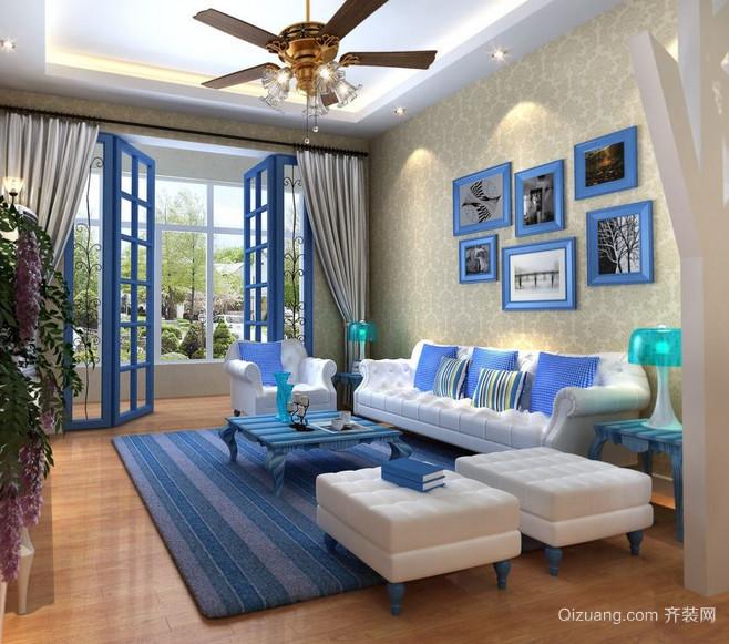 小别墅客厅地中海装修设计效果图
