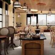 自然风格咖啡店效果图