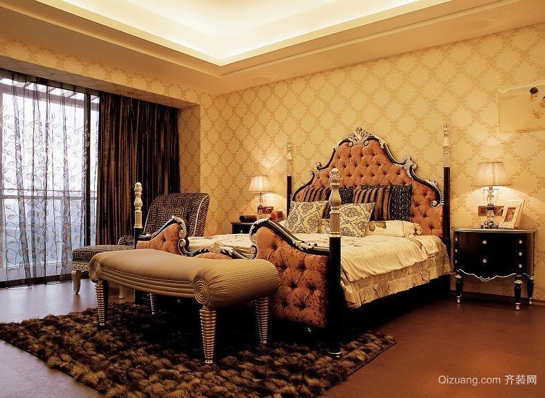 现代法式风格别墅卧室装修效果图
