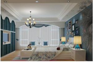 中小户型地中海风格卧室效果图