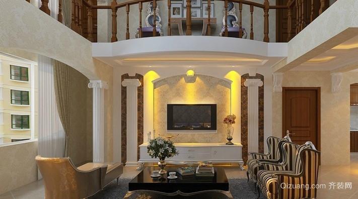 50平大户型欧式客厅电视背景墙