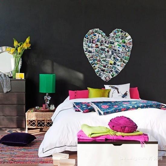 欧式风格的墙面装饰相片墙