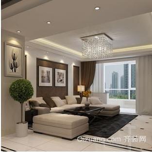客厅创意花卉盆景装修效果图