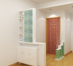 大户型三室二厅欧式客厅鞋柜隔断装修效果图