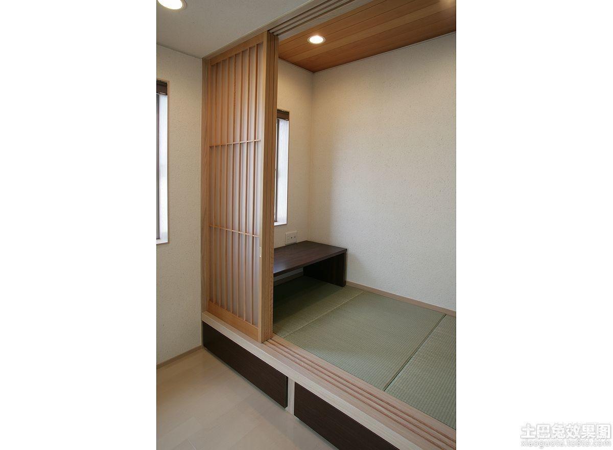 90平米日式卧室榻榻米背景墙装修效果图