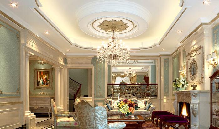 法式风格精致奢华客厅装修效果图