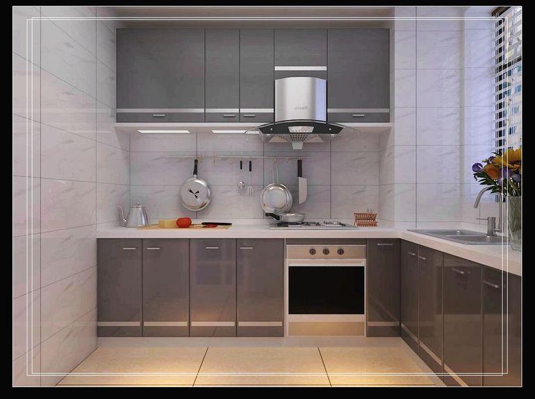 欧式大户房厨房推拉门装修设计效果图