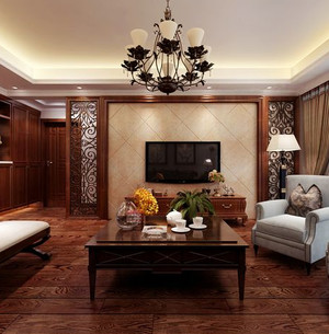 三居室客厅宜家窗帘装修效果图