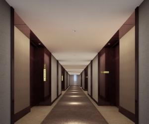 现代化简约商务酒店装修效果图