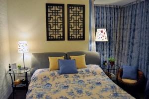 新中式田园风格卧室效果图