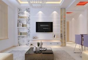120平米欧式大户型现代简约客厅电视墙背景装修效果图