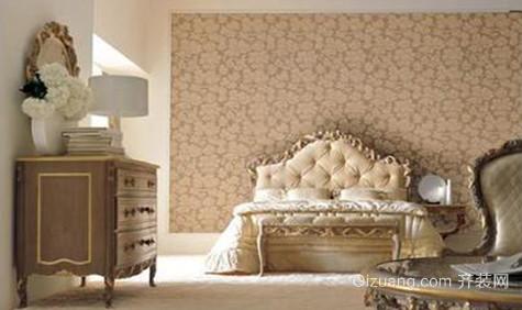 120㎡法式风格卧室壁纸装修设计图