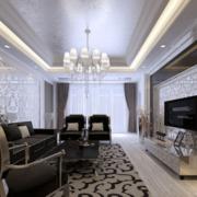 冷色调客厅设计图片