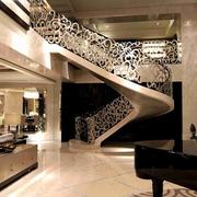 灰色调楼梯效果图片