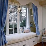 防盗窗设计窗帘图