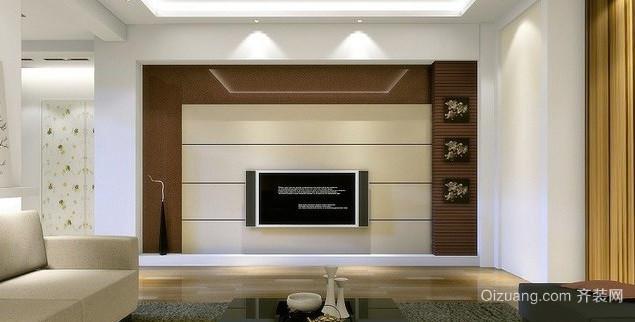 现代简约 风格 硅藻泥电视背景墙 装修效果图 齐