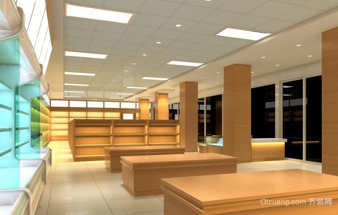 现代简约风格都市超市货架装修效果图