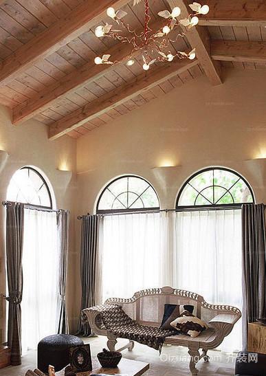 混搭风格客厅吊顶装修效果图