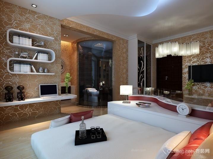120平米大型欧式单身公寓客厅电视背景墙装修效果图
