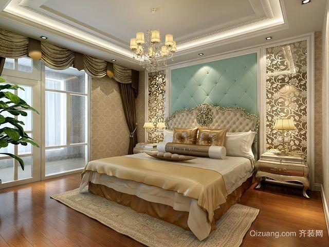 中式简约卧室背景墙效果图