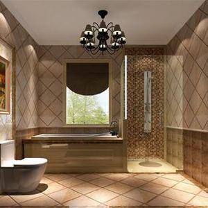 两室一厅一卫现代化简约卫生间装修效果图