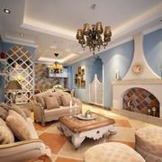欧式风格客厅设计图片
