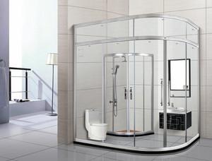 现代简约风格玻璃隔断卫生间装修效果图