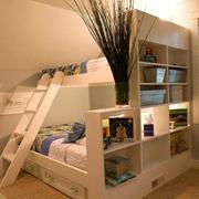 木色调儿童房效果图