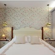 田园风格卧室壁纸图片
