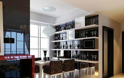 歐式風格客廳歐式酒柜裝修效果圖