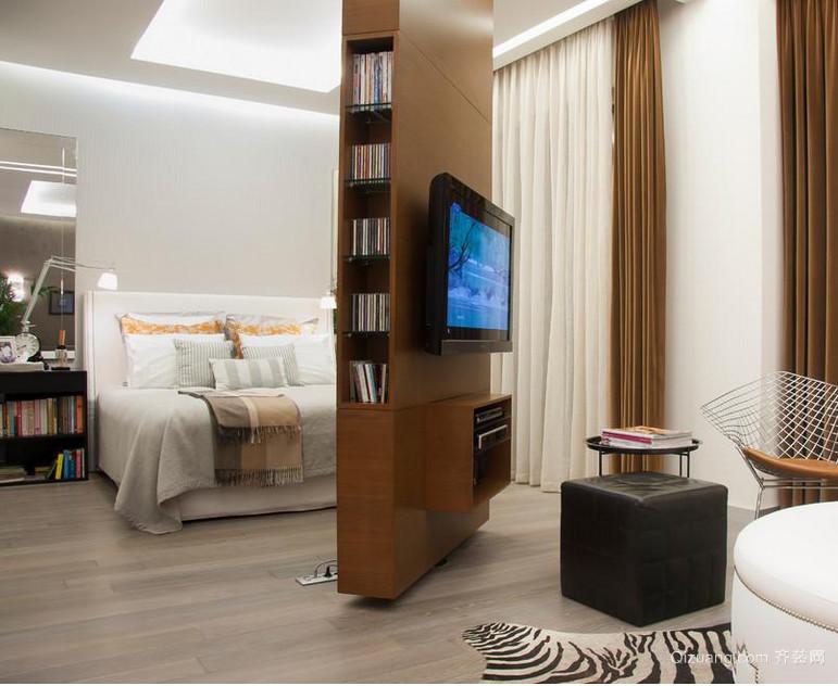 90平米小户型卧室隔断背景墙装修效果图