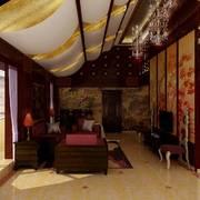 自然风格客厅吊顶图片