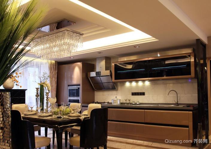 现代简约风格宜家开放式厨房装修效果图