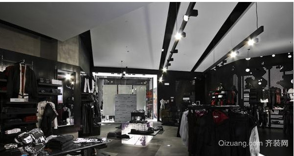 时尚服装店吊顶装修效果图
