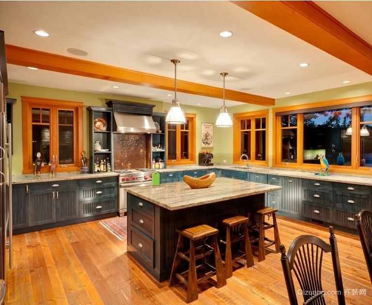 大户型欧式开放式厨房装修设计效果图