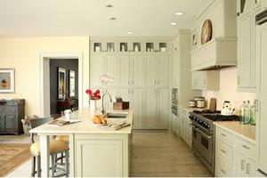 90平米小户型开放式欧式厨房隔断装修效果图