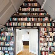 阁楼书柜设计图片