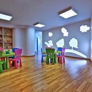 幼儿园木地板效果图