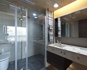 70平米小户型洗手间隔断背景墙装修设计效果图